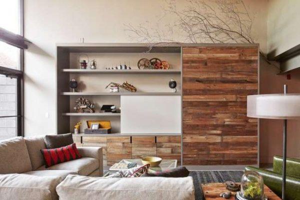 эко стиль мебели в гостиной