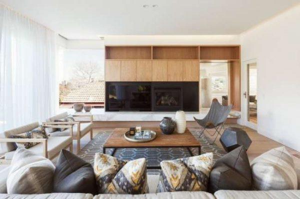 прямолинейная стенка мебельная для гостиной