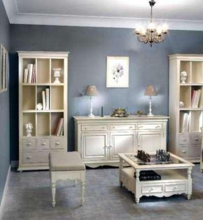 стенка мебельная для гостиной в стиле прованс