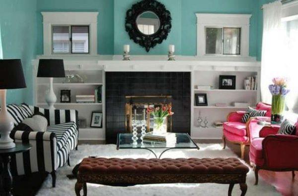 сочетание разных цветов в интерьере гостиной