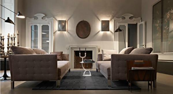 пастельные оттенки стен в интерьере гостиной