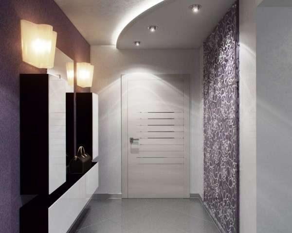 дизайн прихожей с подвесным потолком