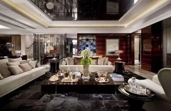 мебель в интерьере в стиле хай тек