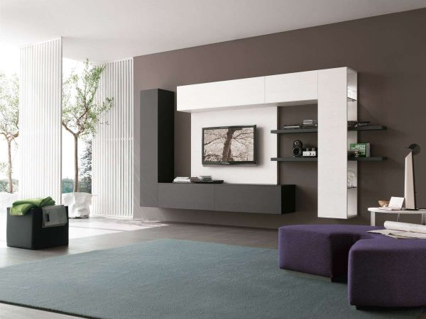 пастельный цвета в интерьере гостиной в стиле хай тек