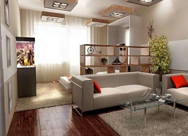 мебель трансформер в спальне-гостиной