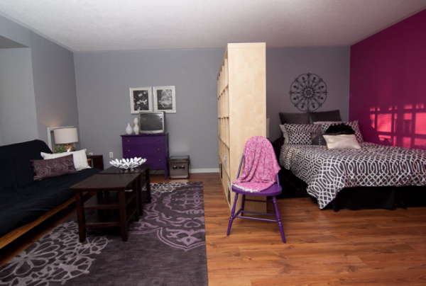 раскладной диван в спальне-гостиной