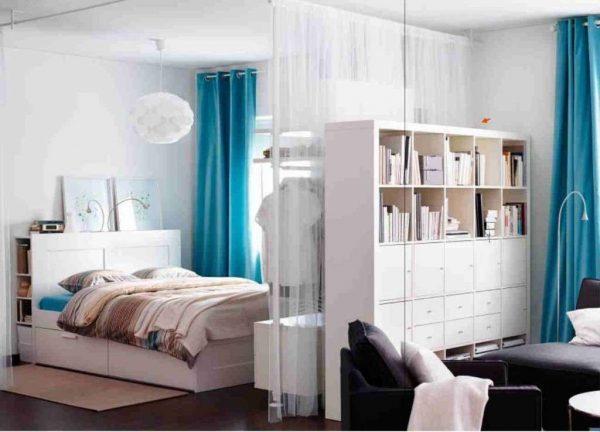 дизайн спальни и гостиной в одной комнате