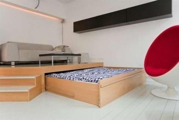 мебель для небольшой спальни-гостиной