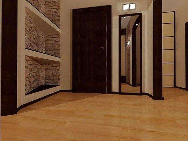 ламинат в коридоре однокомнатной квартиры