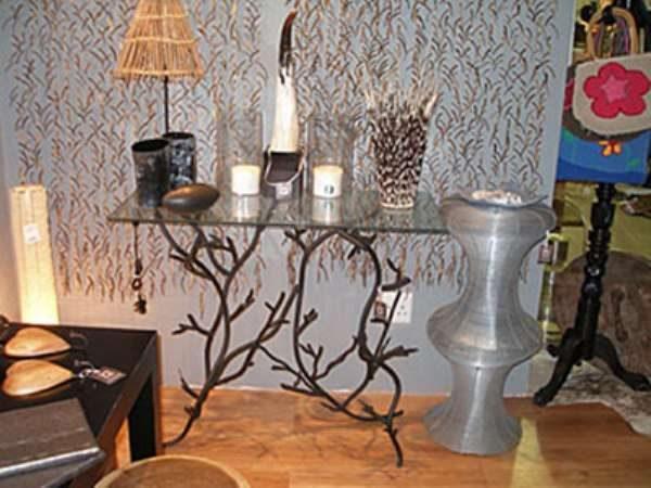 кованая мебель - столик в прихожую