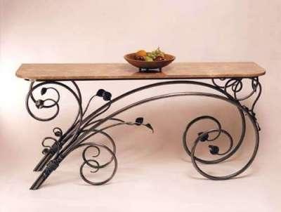 столик кованый для прихожей