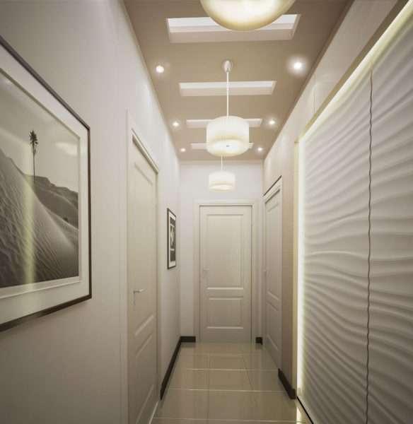 точечные светильнике в коридоре