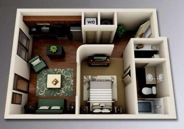 планировка квартиры в 3Д