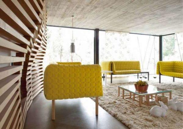 современная мебель в гостиной в стиле модерн