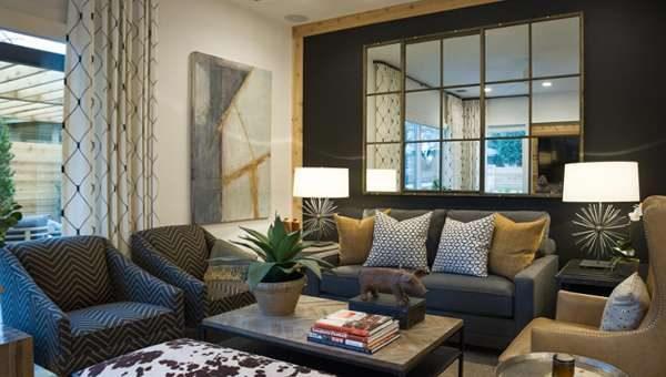 диванная группа в современной гостиной