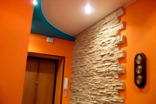 Дизайн потолка в прихожей из гипсокартона