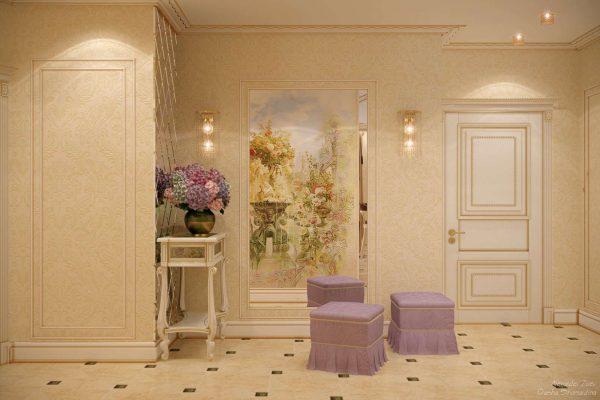 Прихожая в квартире с фресками