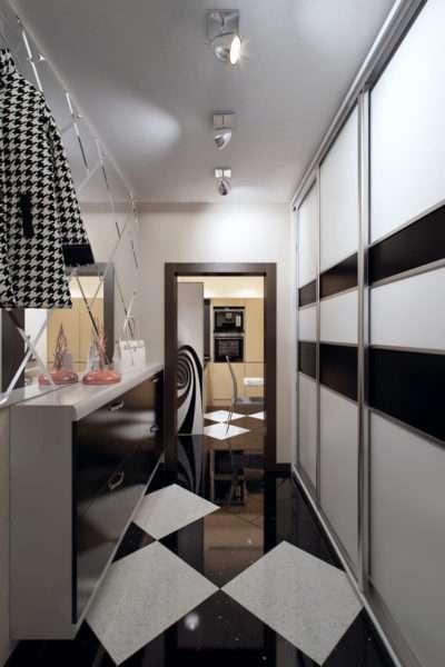 стильный потолок в прихожей в квартире