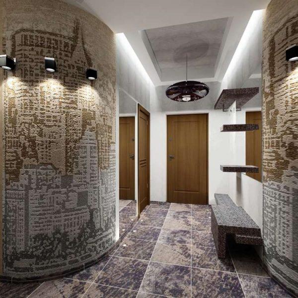 полукруглые стены в прихожей в квартире