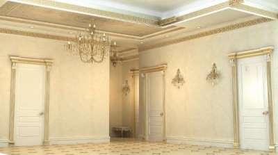 просторный холл в стиле бароко