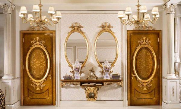 зеркала в прихожей в стиле барокко