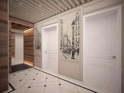 картины на стенах в прихожей в стиле прованс
