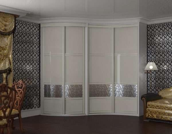 белый шкаф в гостиной в современном стиле