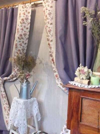 шторы лавандовые для гостиной