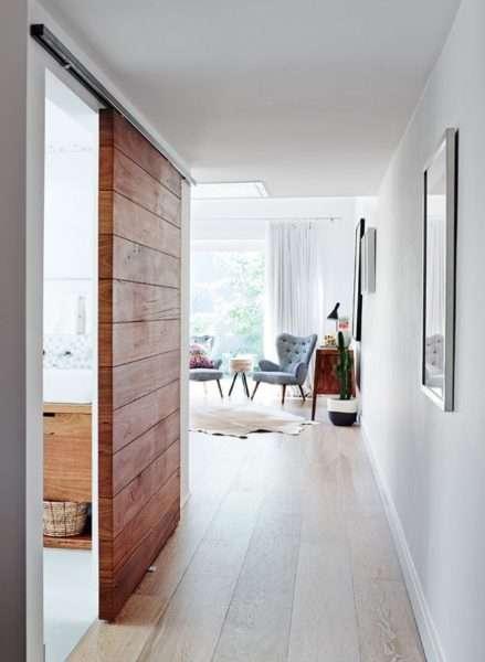 белый интерьер прихожей в квартире