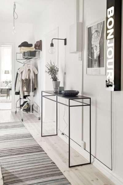 интерьер белой прихожей в квартире