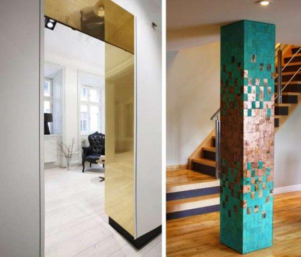 интерьер прихожей в квартире с зеркалами