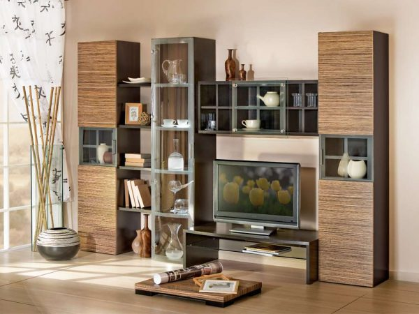 стенка в восточном стиле под телевизор в гостиную
