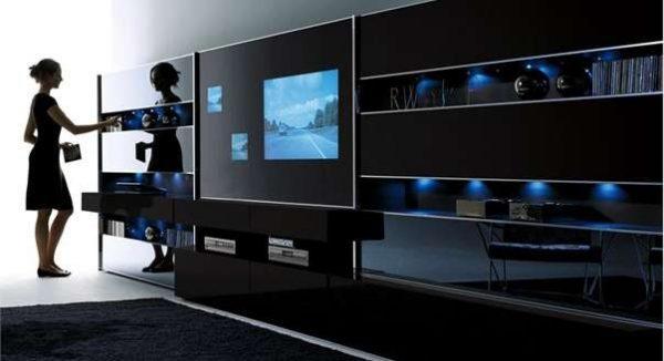 встроенный телевизор в стенку для гостиной