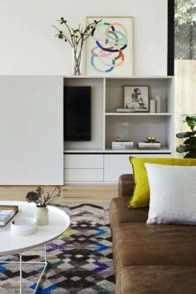 белая стенка под телевизор в гостиную