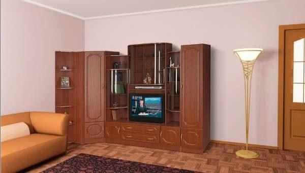 угловая стенка с нишей под телевизор