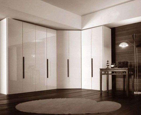 белая угловая стенка для гостиной