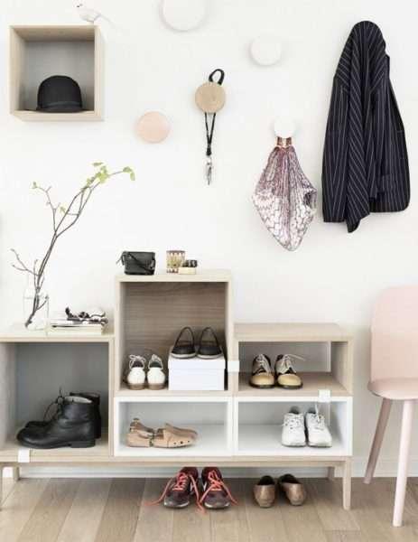 стильная мебель для узкой прихожей