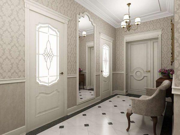 коридор в классическом стиле