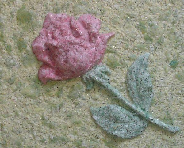 рисунок роза из жидких обоев
