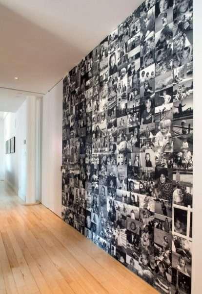 фото на стене в коридоре в панельном доме