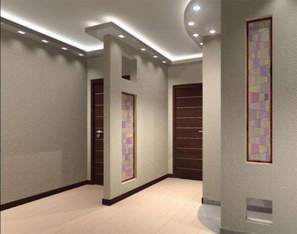декоративная перегородка в коридоре панельного дома