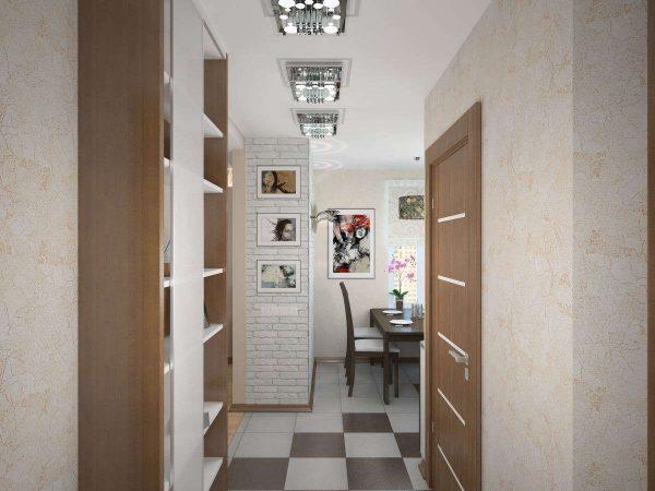 шкаф в коридоре панельного дома