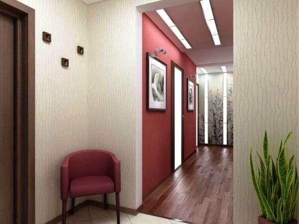 розовые стены в коридоре панельного дома