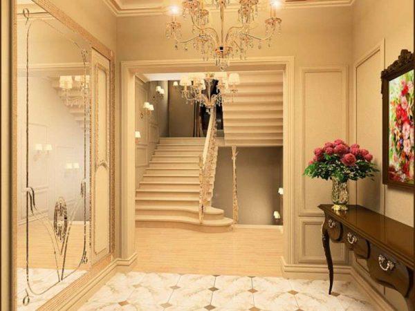 классический коридор с лестницей
