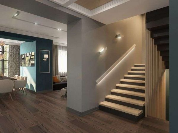 освещение на лестнице в частном доме