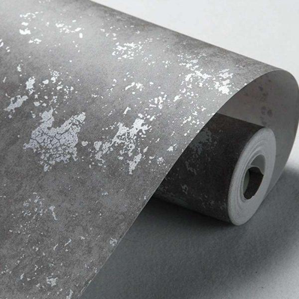 виниловые обои под бетон в прихожей