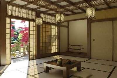 потолок в прихожей в японском стиле
