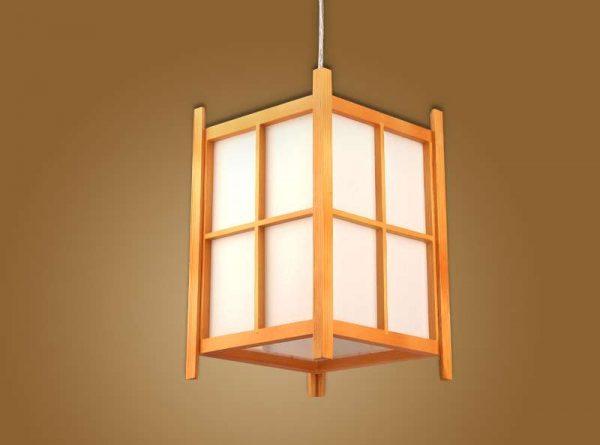 подвесной светильник в прихожей в японском стиле