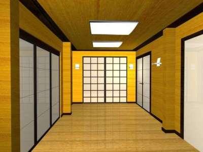 жёлтый в прихожей в японском стиле