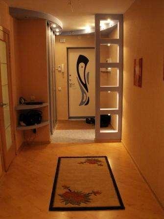 декоративная перегородка в прихожей в японском стиле